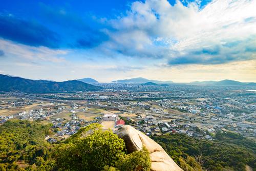 右田ヶ岳からの眺望